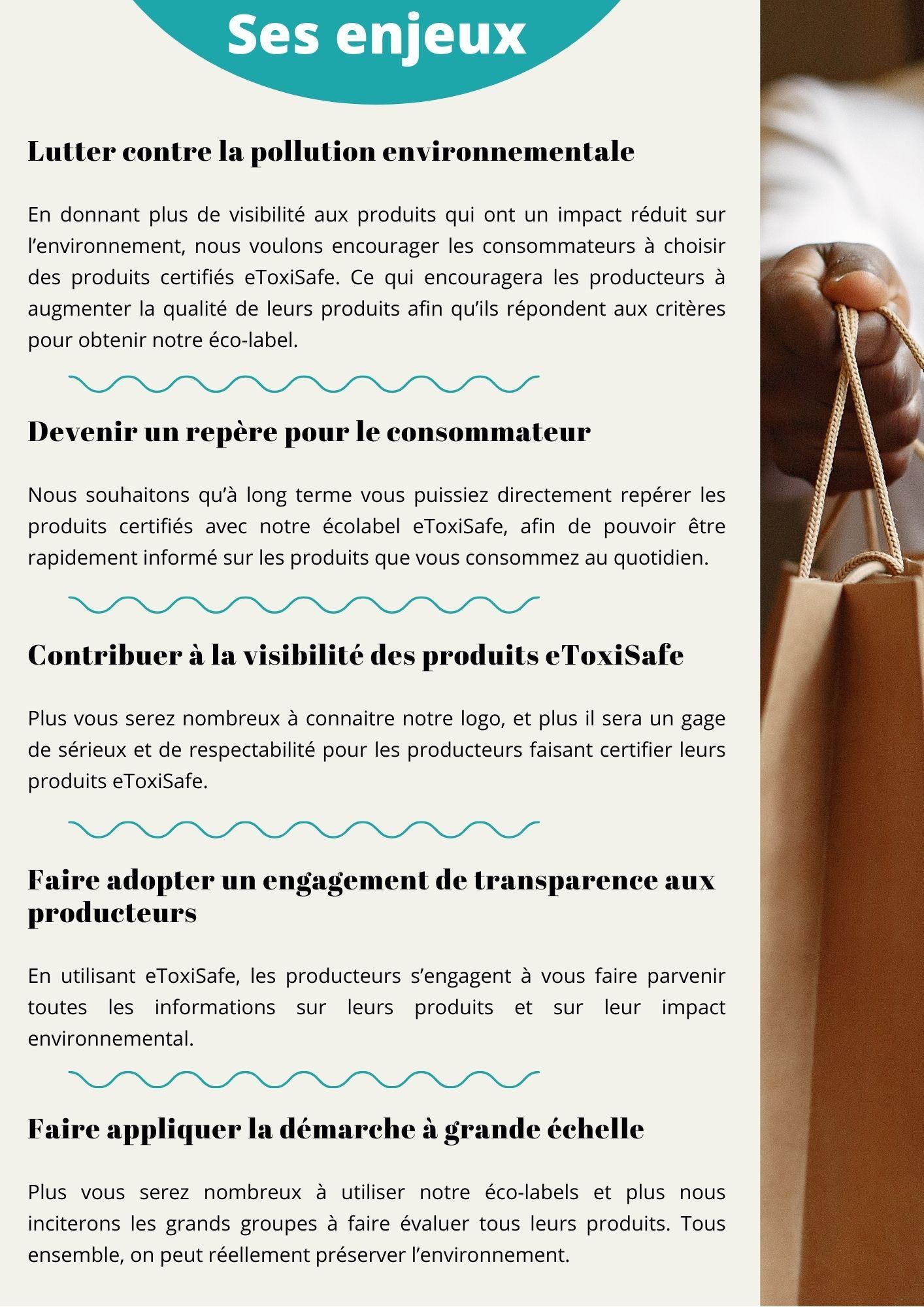 Informations écolabel eToxiSafe